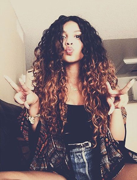Curly Natural Weave Updo Silky Ombre Goals Girl Full