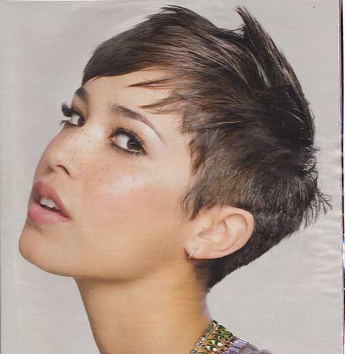 short hair for a square face