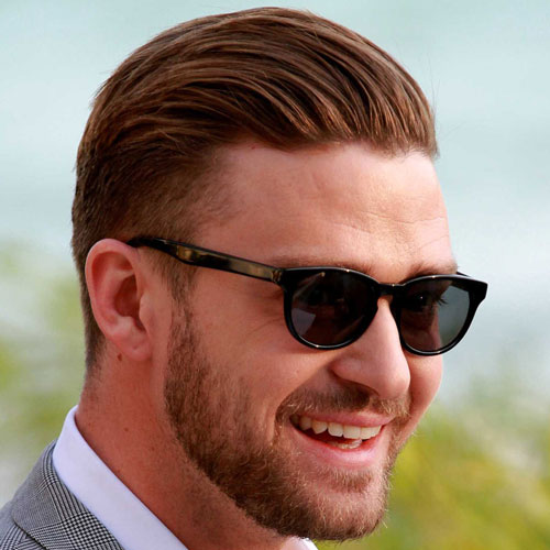 Justin Timberlake Slicked Back Hairstyle