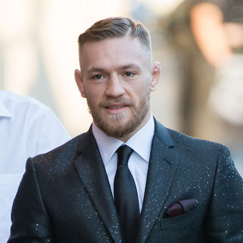 Conor McGregor Haircut - Hartteilkamm over + thick line