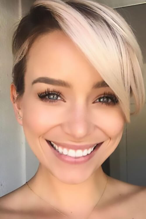 The buzzed undercut with blond highlights