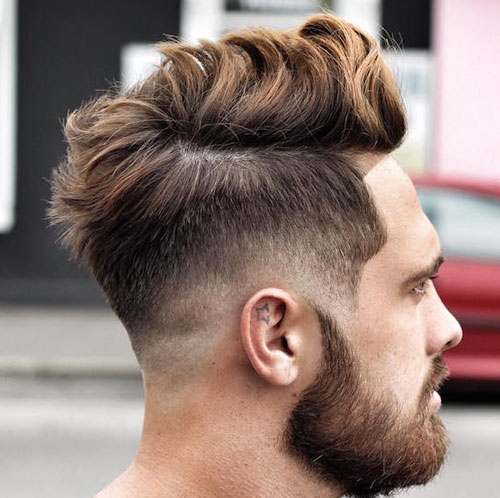 Long Messy Hair with low fade