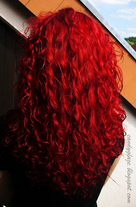 Red Semi Permanent Curls Colors Candy Blue Based