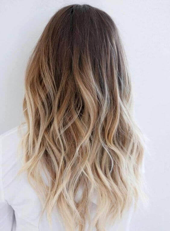 A modern ombre bomb with many layers