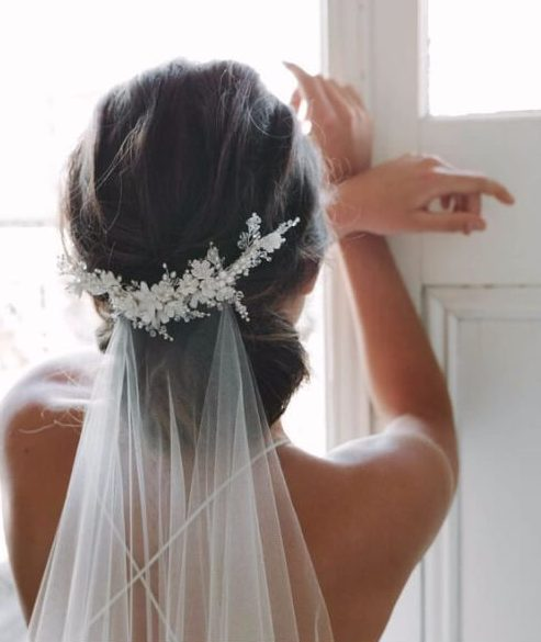 Veil wedding hairstyles for long hair