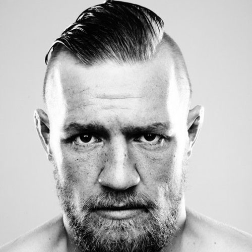 Conor McGregor Hair - Shaved Page + Long Straight Back Hair