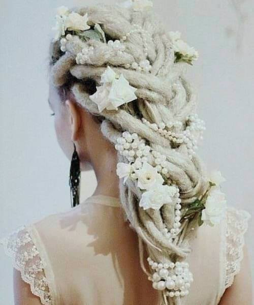 Dreads wedding hairstyles for long hair