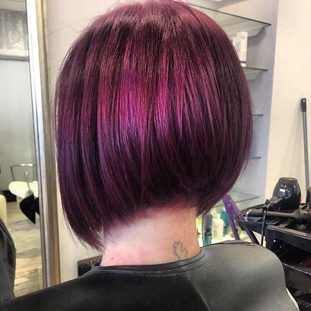 Textured Graded Bob Hairstyle Color Ideas