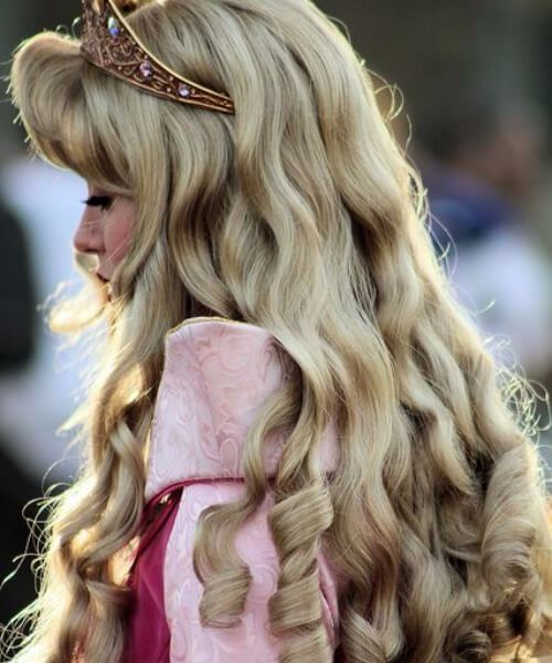 Sleeping Beauty Wedding Hairstyles for long hair