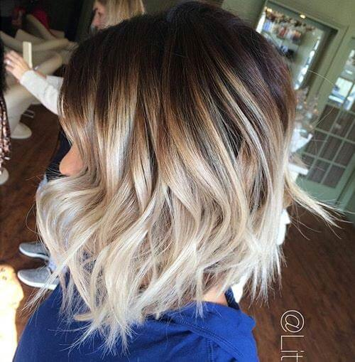 Fat Ombre Balayage Textured Hairstyle