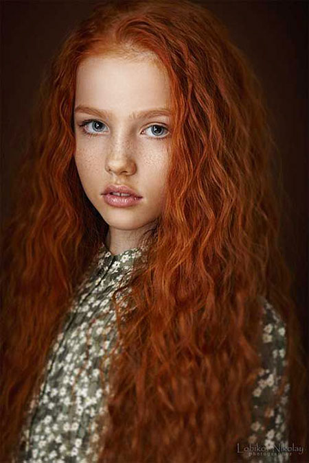 red long redhead Pelirrojas natural merida heads curly