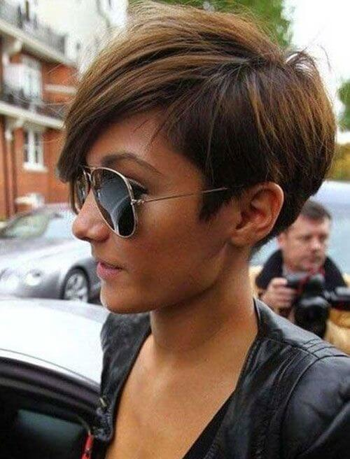 The Textured Pixie for the Natural Brunette