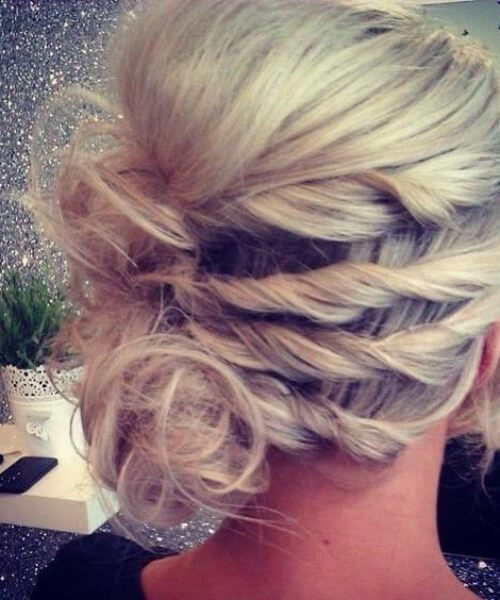 twisted updos for short hair