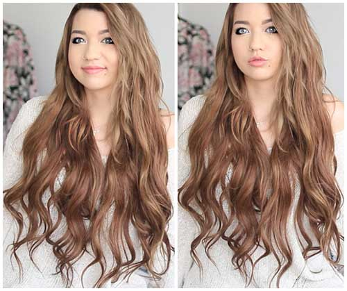 Hairstyle for wavy hair