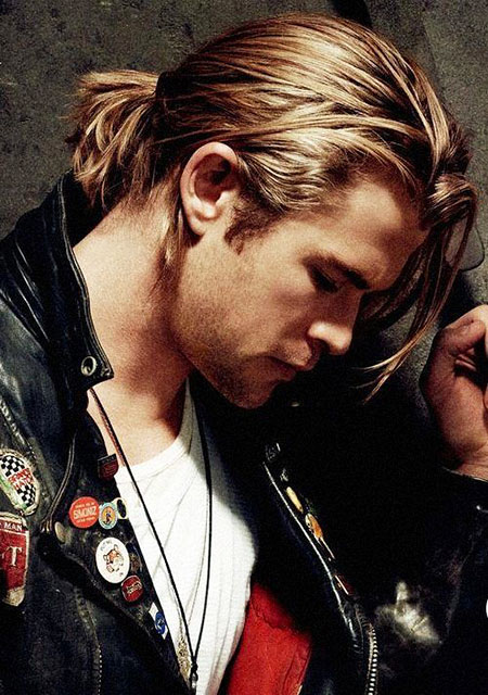 Chris Hemsworth, Ponytail, Kurt, Pitt, Men, David