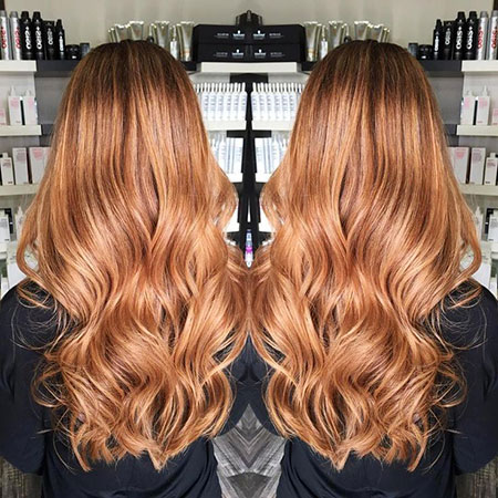 Blonde Balayage Strawberry Ombre Caramel Brown Warm
