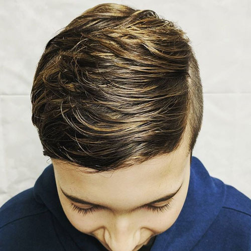 Best Haircuts for Young Boys - Textured Long Hair + Short Sides
