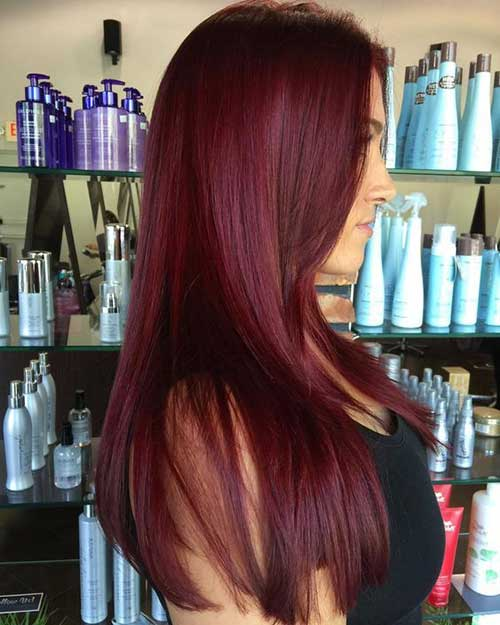 Dark red hair color-7