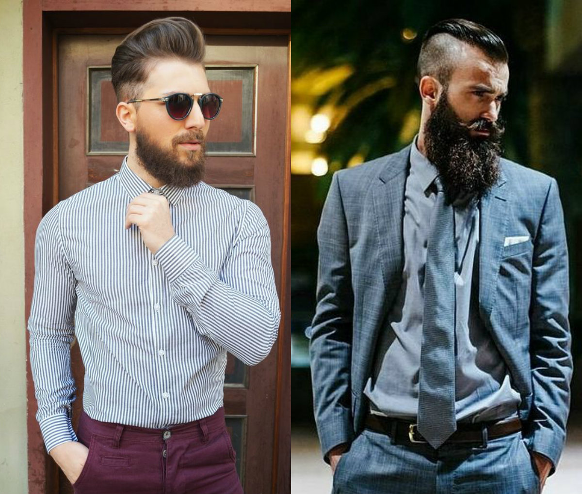 Business Style Undercut Beard Mens Hairstyles -2017