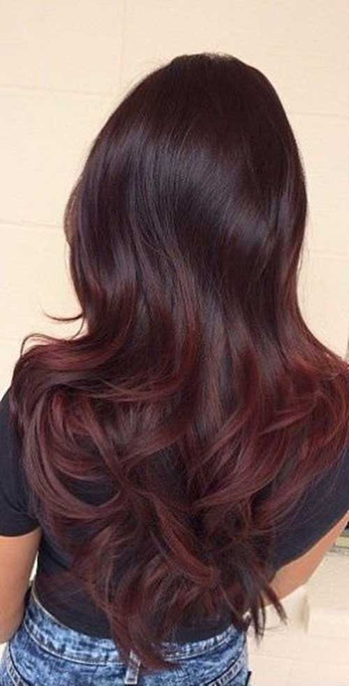 Dark Red Color 6 Hair