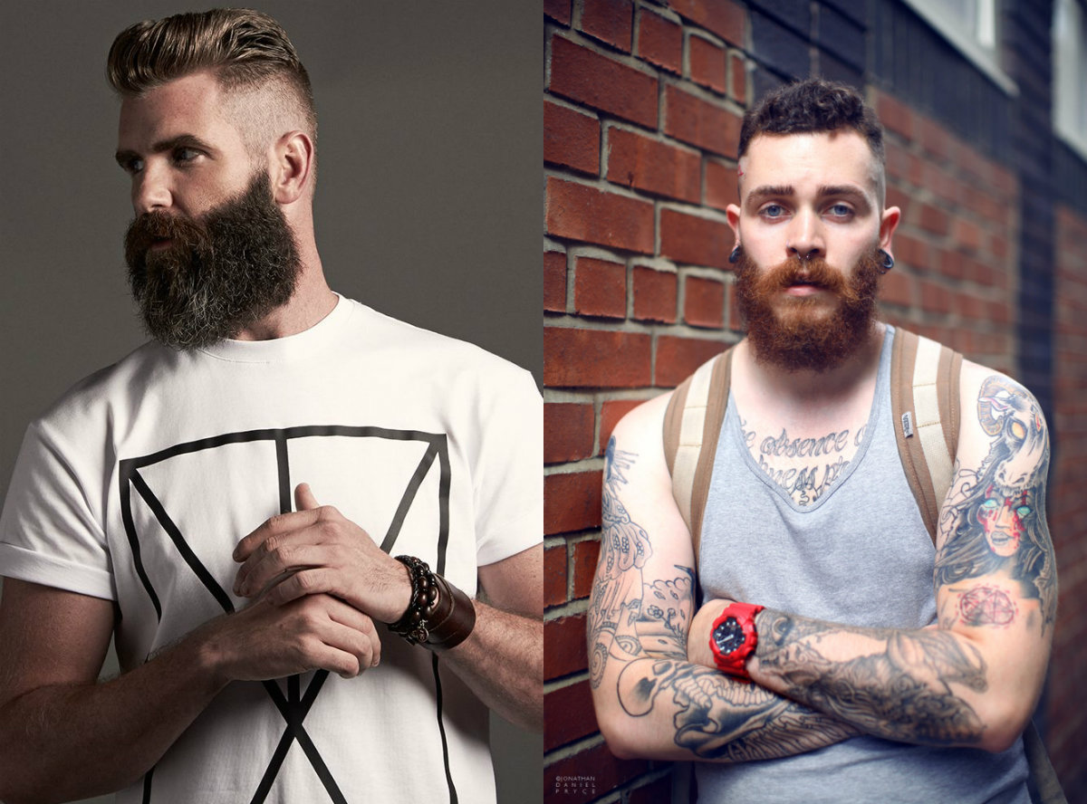 cool men hairstyles and beards 2018