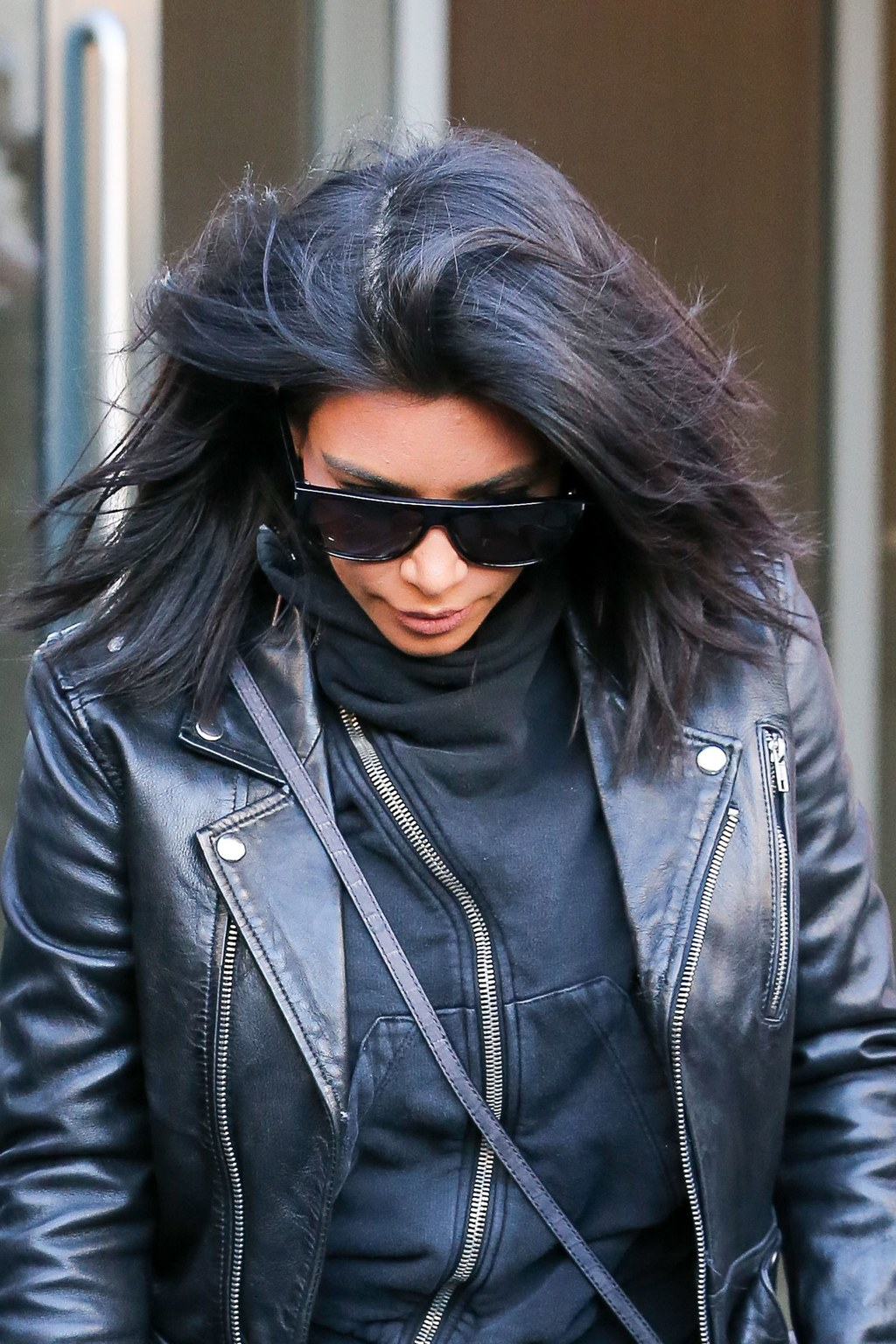 Kim Kardashian winter black hair colors 2018