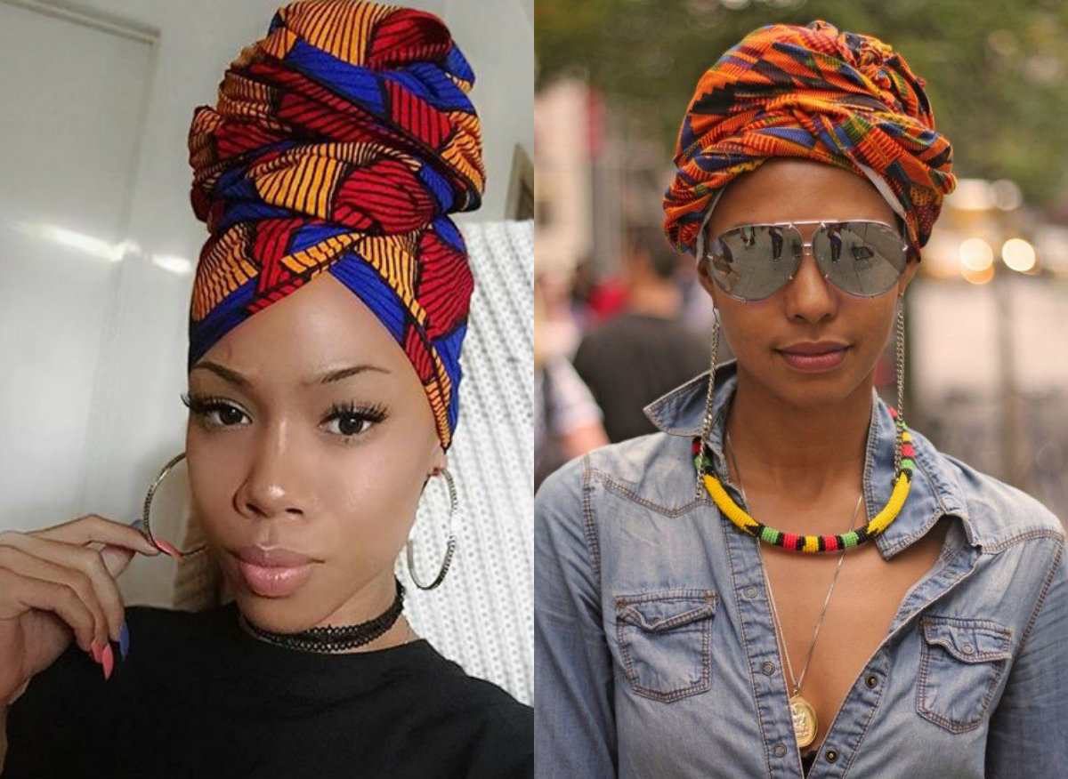 colorful headwraps hairstyles