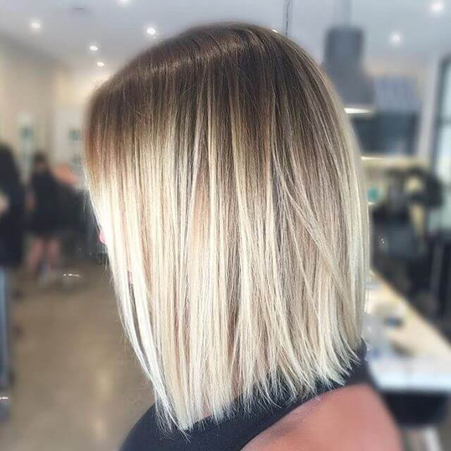 Simple Hairstyle in Cool Honey Blonde