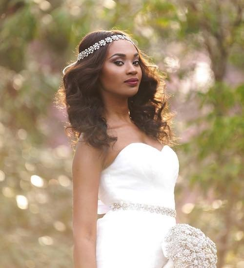 Wedding hairstyles for black women with long hair