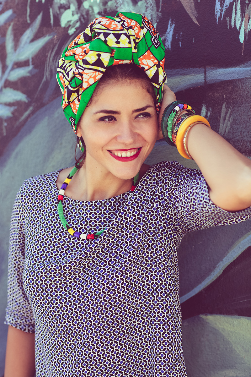 African head bandages for white women