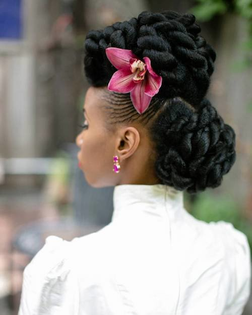 sculpted wedding hairstyle for black women 1