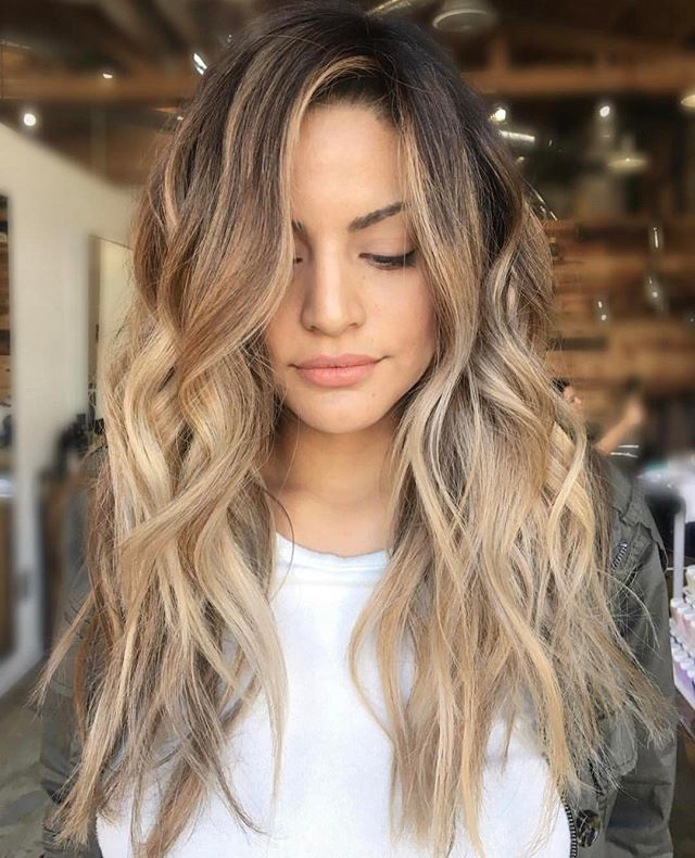 Beach waves on long hair 2018