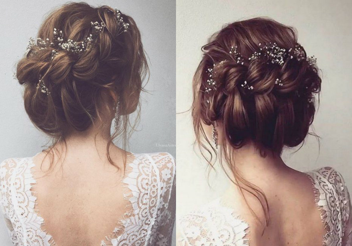 Twisted updos wedding hairstyles 2018