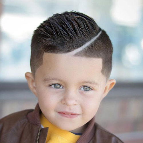 Hard side + low fade + line up for cute little boys