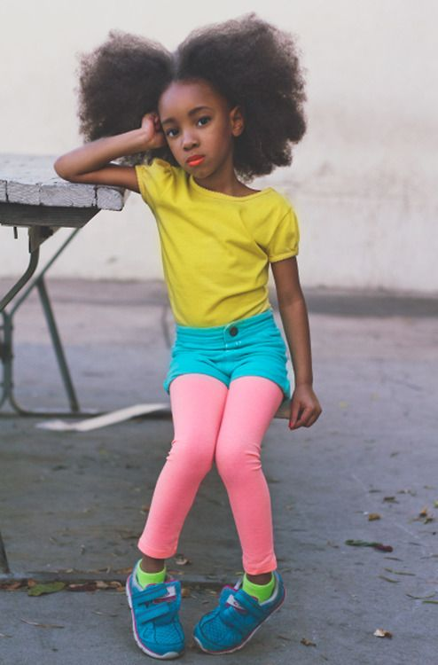 huge black children afro hairstyles