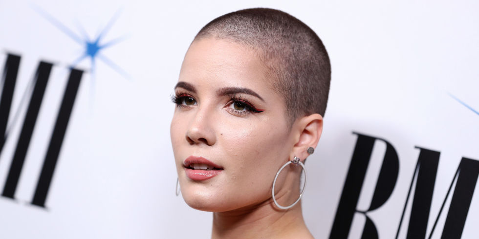 Halsey shaved head hairstyles 2018 19659009] Cara Delevingne buzz cut hairstyles 2018