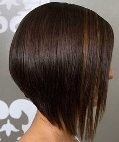Reverse bob hairstyle for fine hair