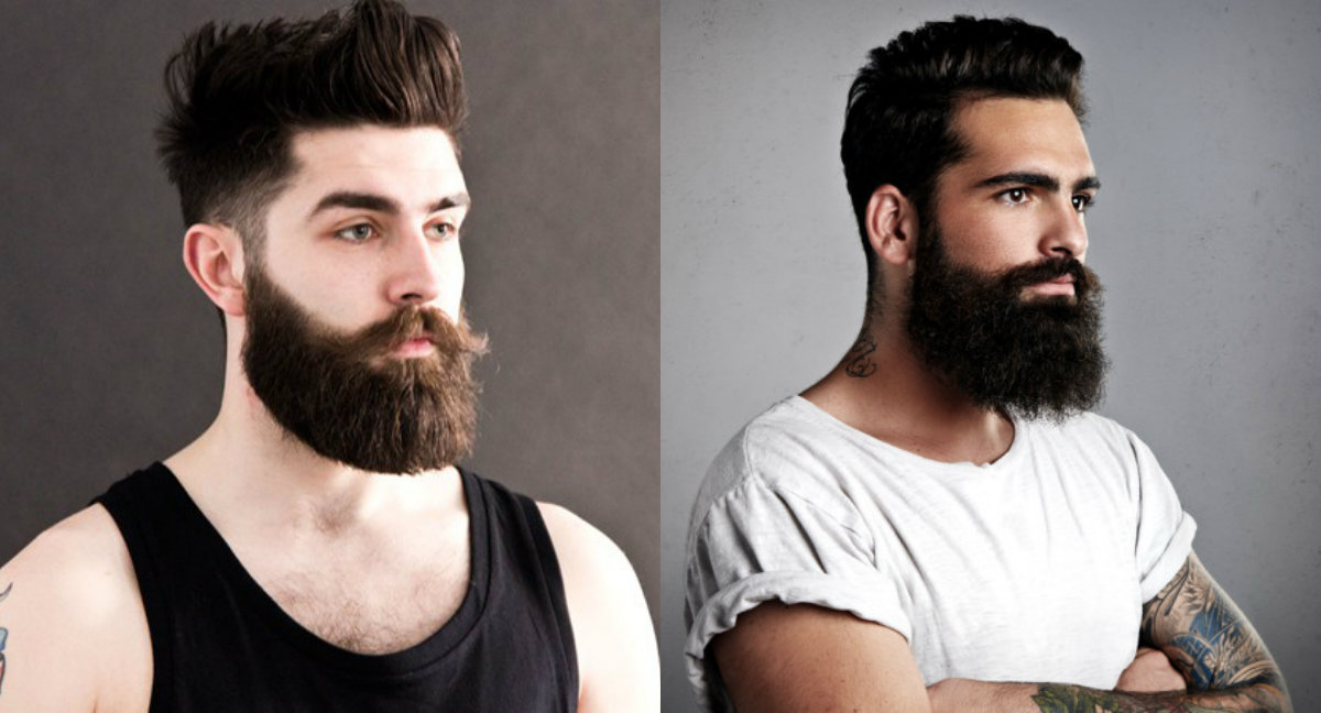 short hairstyles with Berads for men for 2018
