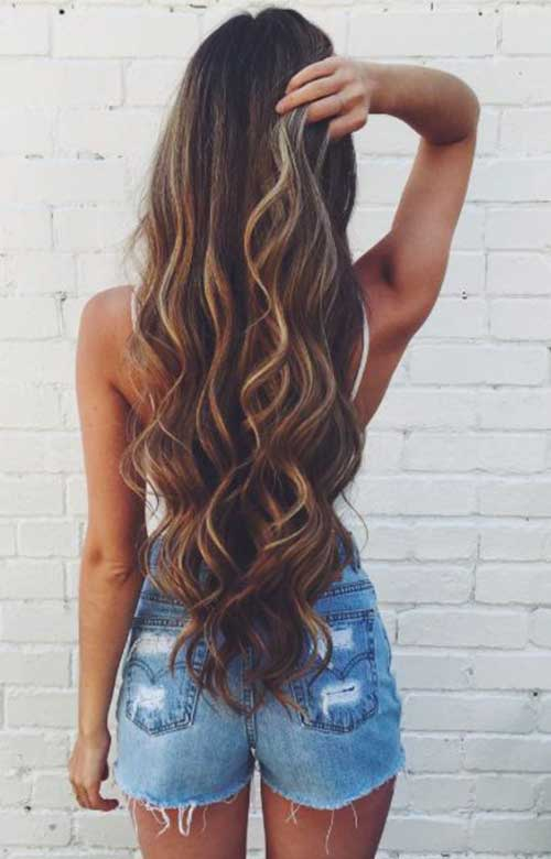 Long hairstyles with Balayage-9