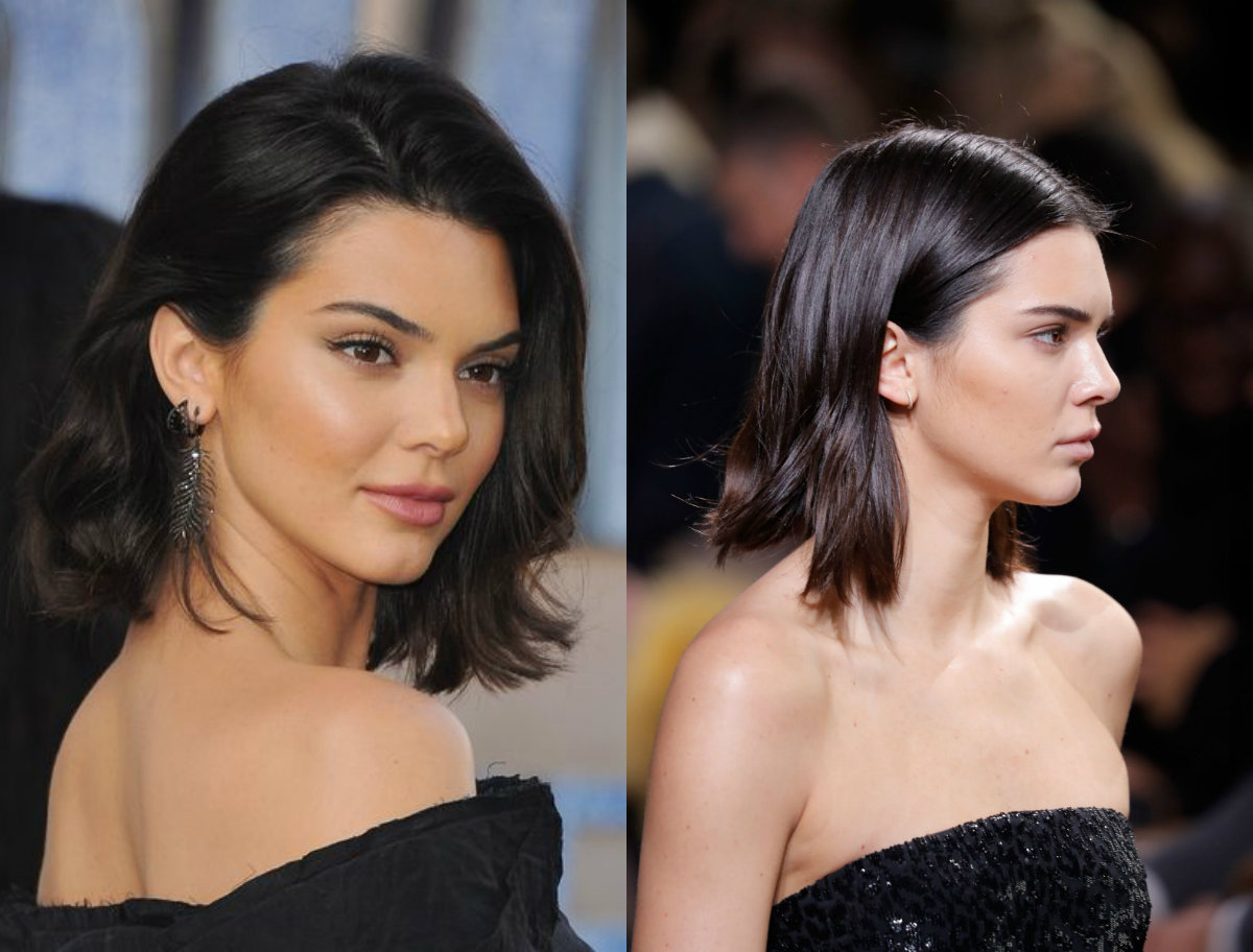Kendall Jenner brown black hair colors for the winter