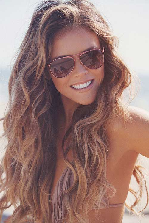 Long hairstyles with Balayage-14