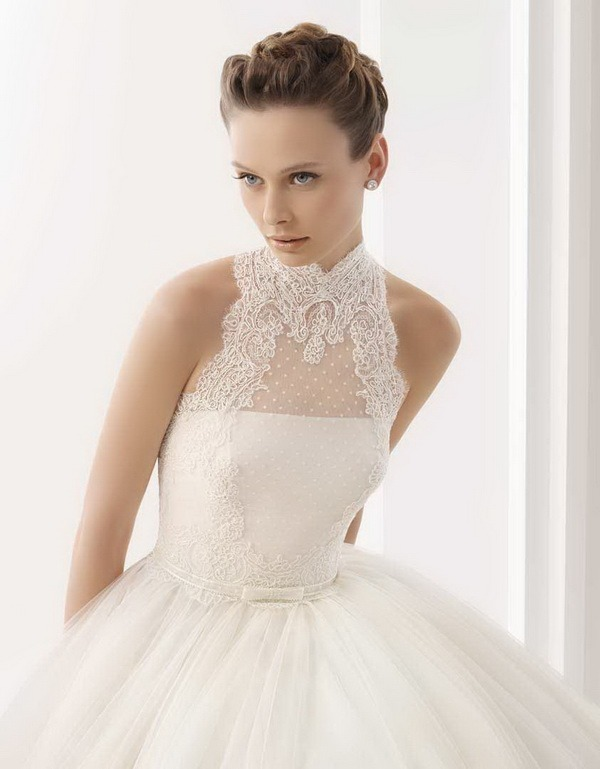 Refined bridal hairstyle