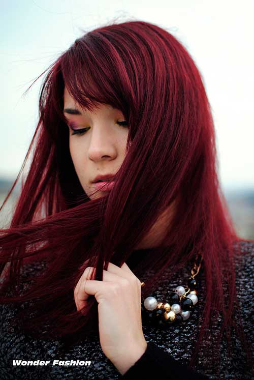 Dark red hair color-11