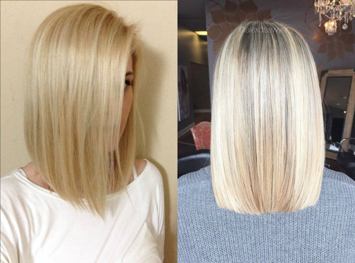 straight-blonde-shoulder-length hairstyles-2017