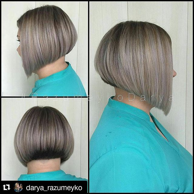 Short Straight Inverted Bob Hairstyle