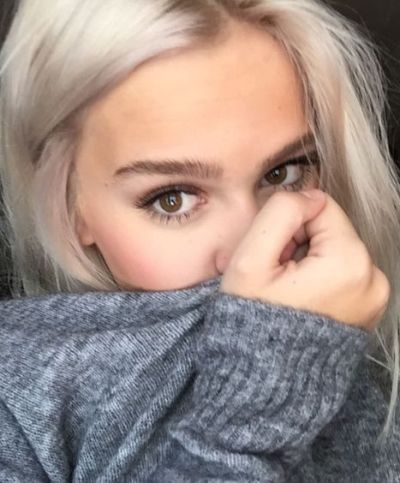 Silky smooth, shiny white blonde for brown eyes