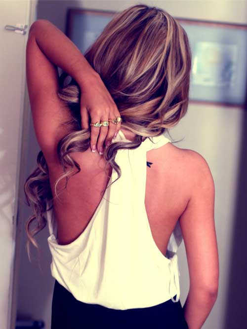 Long hairstyles with Balayage-8