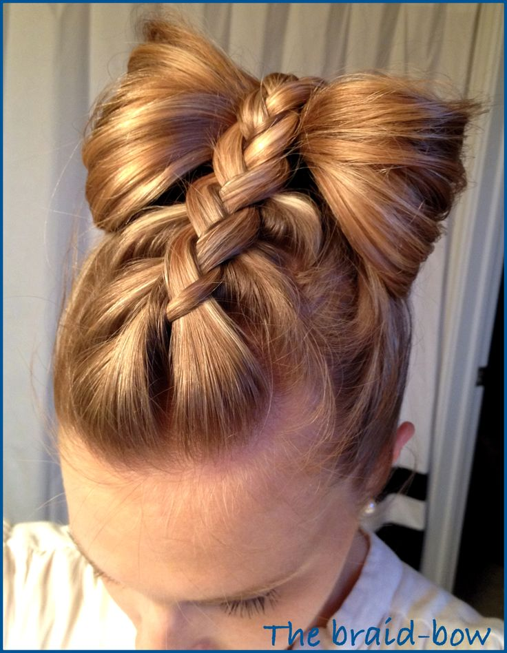 New Year's tan Bowand Braids hairstyles for kids
