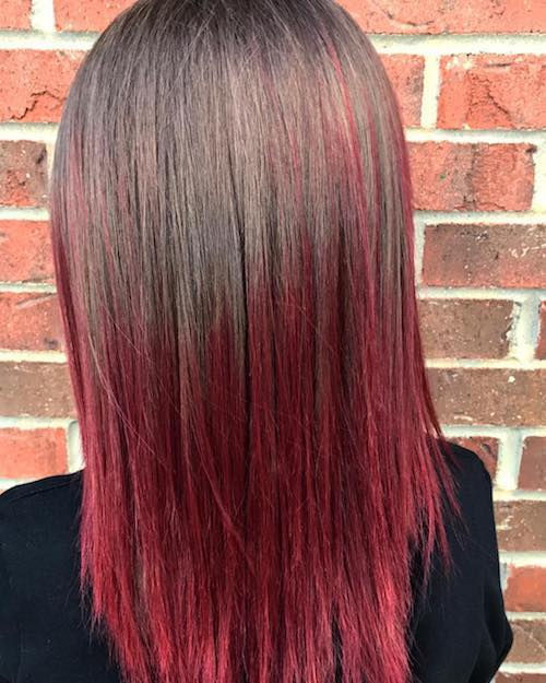 ruby ombre hairstyle