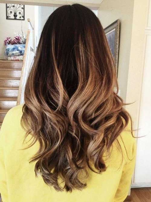 Long hairstyles with Balayage-10